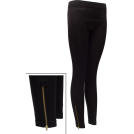 FineBrandShop Ghette -  Ladies Zippered Leggings Black