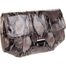 Lauren Merkin Clutch bags -  Lauren Merkin Blair Shiny Python Clutch Grey/Black