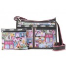 LeSportsac Bag -  LeSportsac Deluxe Shoulder Satchel Handbag Purse Around Town