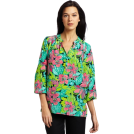 Lilly Pulitzer Top -  Lilly Pulitzer Women's Elsa Pintucks Top Black Skip On It