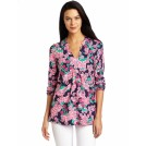 Lilly Pulitzer Tuniche -  Lilly Pulitzer Women's Joycee Tunic Top Bright Navy Cherry