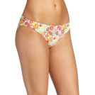 Lilly Pulitzer Costume da bagno -  Lilly Pulitzer Women's Surfs Up Bikini Bottom, Resort White Mini Garden By The Sea, X-Small