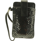 Mundi Wallets -  MUNDI Skinny Mini Metal Mesh Wristlet Black