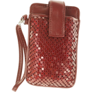 Mundi Wallets -  MUNDI Skinny Mini Metal Mesh Wristlet Red