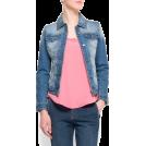 Mango Jacket - coats -  Mango Women's Distressed Effect Denim Jacket Medium Denim