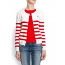 Mango Cardigan -  Mango Women's Sailor Cardigan Red