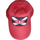 Tommy Hilfiger Cap -  Men's Tommy Hilfiger Hat Ball Cap 85 Red with Logo