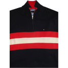 Tommy Hilfiger Pullovers -  Men's Tommy Hilfiger Long Sleeve Pullover Sweater Blue Red and White Size XXL