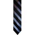 Tommy Hilfiger Tie -  Men's Tommy Hilfiger Necktie Neck Tie Silk Black, Blue & Silver