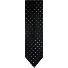 Tommy Hilfiger Tie -  Men's Tommy Hilfiger Necktie Neck Tie Silk Black, Silver and Blue
