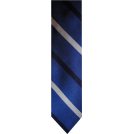 Tommy Hilfiger Tie -  Men's Tommy Hilfiger Necktie Neck Tie Silk Blue, Black & Silver