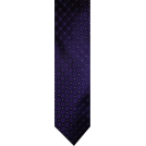 Tommy Hilfiger Tie -  Men's Tommy Hilfiger Necktie Neck Tie Silk Purple Blue & Silver