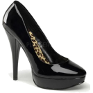 Pin Up Couture Platforms -  Pin Up Couture's Classic Black Platform Pump - 8