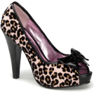 Pin Up Couture Sandals -  Pink Cheetah Glitter Print Sexy Pin Up Pump - 10