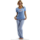 "Rampage Pajamas -  Rampage ""Breakfast in Bed"" Pajama Set #540 ,Blue , Blue"