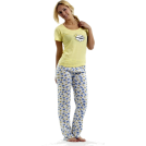 "Rampage Pajamas -  Rampage ""Good Morning Sunshine"" Pajama Set Yellow"