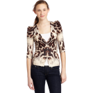 Rampage Cardigan -  Rampage Junior's Animal Printed Cardigan Tan