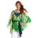 Rampage Tunic -  Rampage Juniors Printed Caftan Green