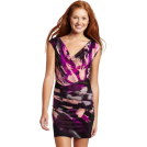 Rampage Dresses -  Rampage Juniors Printed Jersey Dress Black/Magenta