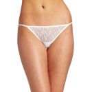 Rampage Thongs -  Rampage Women's Lace Thong White