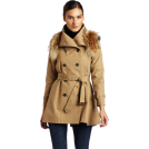 Rebecca Minkoff Kurtka -  Rebecca Minkoff - Clothing Women's Jacquelyn Trench Coat with Fur Khaki