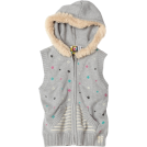 Roxy Vests -  Roxy Kids Girls 7-16 Big Break Sweater Vest Heather Gray