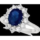 diamonds15 Pierścionki -  Sapphire Diamond Ring