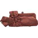 PacificPlex Carteras tipo sobre -  Satin Striped Bow Clutch Evening Bag Purse Red