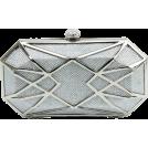 Scarleton Clutch bags -  Scarleton Hard Case Clutch H3054 Silver