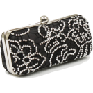 Scarleton Clutch bags -  Scarleton Lace Minaudiere With Crystals H3023 Black