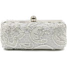 Scarleton Clutch bags -  Scarleton Lace Minaudiere With Crystals H3023 Silver