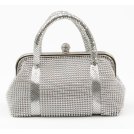 Scarleton Clutch bags -  Scarleton Metal Mesh Clutch H3010 Silver