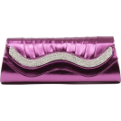 Scarleton Clutch bags -  Scarleton Metallic Clutch With Crystals H3015 Purple