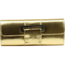 Scarleton Clutch bags -  Scarleton Metallic Flap Clutch H3063 Gold