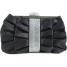 Scarleton Clutch bags -  Scarleton Satin Clutch With Crystals H3021 - Blue Black