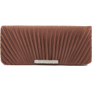 Scarleton Clutch bags -  Scarleton Satin Flap Clutch With Crystals H3017 Coffee