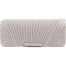 Scarleton Clutch bags -  Scarleton Satin Flap Clutch With Crystals H3017 Silver