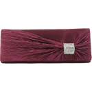 Scarleton Clutch bags -  Scarleton Satin Flap Clutch With Crystals H3020 Purple