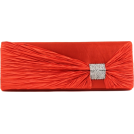 Scarleton Clutch bags -  Scarleton Satin Flap Clutch With Crystals H3020 Red