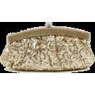 Scarleton Clutch bags -  Scarleton Satin Soft Frame Clutch H3006 Gold