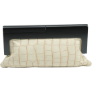 Scarleton Clutch bags -  Scarleton Wood Framed Croc Embossed Clutch H3048 Beige
