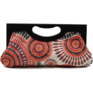 Scarleton Clutch bags -  Scarleton Wood Framed Embroidered Clutch H3001 Orange