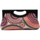 Scarleton Clutch bags -  Scarleton Wood Framed Embroidered Clutch H3001 Pink