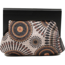 Scarleton Clutch bags -  Scarleton Wood Framed Embroidered Clutch H3002 Black