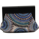 Scarleton Clutch bags -  Scarleton Wood Framed Embroidered Clutch H3002 Blue