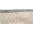 Scarleton Clutch bags -  Scarleton Woven Satin Clutch with Crystals H3060 Beige
