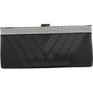 Scarleton Clutch bags -  Scarleton Woven Satin Clutch with Crystals H3060 Black
