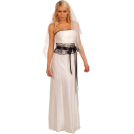 Hot from Hollywood Wedding dresses -  Strapless Lace Empire Waist Full Length Wedding Party Gown Bridal Dress