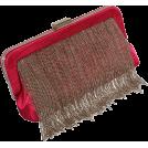 PacificPlex Clutch bags -  Textured Satin Chain Fringe Evening Clutch Bag