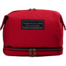 "Tommy Hilfiger Accessories -  Tommy Hilfiger 9.5"" Large Dopp Kit Red"